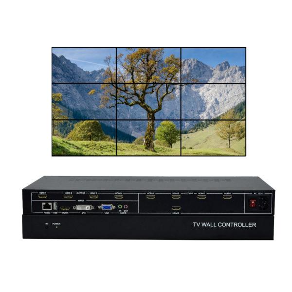 9 channel Video wall contrller 3x3 video processor